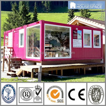 Beautuful Bright Glass Prefabricated Stores with Nice Design