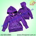 2014 nuevo estilo de tela polar de impresión chaqueta de punto para niños