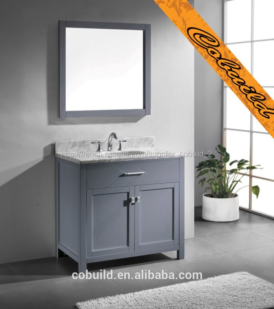 36 moderne gris vier salle de bain vanit bel014a meuble lavabo de salle de bain id du. Black Bedroom Furniture Sets. Home Design Ideas