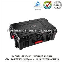IP67waterproof case plastic storage industrial tool case flight case with pre-cut foam