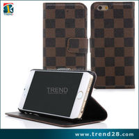 wholesale cell phone case PU flip leather wallet case for iphone 6 & 6 plus