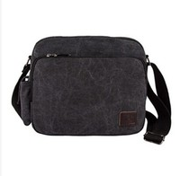 SIC034-1 Men's Vintage Canvas Leather Satchel School Military Shoulder Bag Messenger Bag