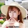 2015 fashion new large hat ladies women summer beach weave sun straw hat multi-color flower print hat