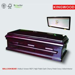 BALLOON BEAR #27 pet coffin supplier wooden pet casket