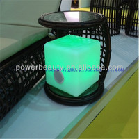 mini remote control &energy saving led cube buletooth speaker for outdoor use