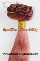 Indian/Chinese/Mongolian/Malaysian clip in hair extensions cheap