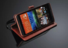 Black color phone protection leather flip case for HTC desire 820 HH-H820-4