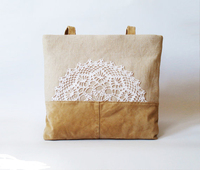 AKleatherware China Supplier Hign Quality Lace Tote Bags for Ladies