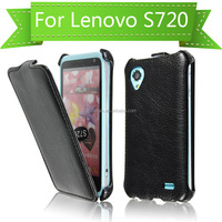 New products cheap price classic thermoforming vertical leather flip case for Lenovo S720