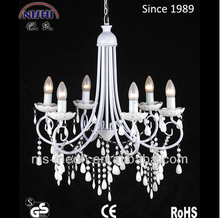 six led lights white color with plastic beads chandelier NS-120025
