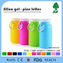 460ML&660ML BPA Free Durable and Foldable Silicone Water Bottle/Collapsible and Portable Water Bottle for Travel and Sports