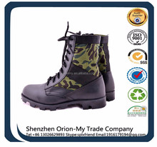 black leather steel toe military rangers/military leather boots/combat jungle boot army boots shoes