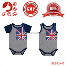 2015 wholesale newborn baby jumpsuit cheap cotton american 4th of july clothing unisex one piece newborn romper