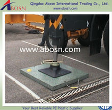 plastic raw materials prices truck UHMWPE/HDPE outrigger pads/temporary portable car leg fender pad