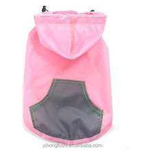 dog raincoat hoodie/ wholesale dog coat / waterproof for dog