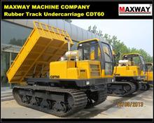 Rubber Track Hydraulic Dump Hoist for Palm / Sugarcane / Wood / Sand , CE / ISO / SGS , Model: CDT60