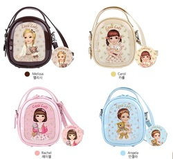 leather messenger bag for girls fashion patent leather cartoon handbag cute ladies bags for litter girls