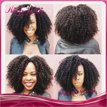 7A Best Quality Afro Kinky Curly Brazilian Hair Glueless Virgin Human Hair Lace Front Wig For Black Women