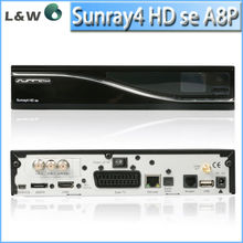 Newest sunray 800 hd se sr4 Triple tuner DVB S2, T2,C sim a8p sunray sr4 decoder for card sharing