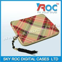 2013 Grid phone leather Bag for ipad ipad 2 ipad 3 case