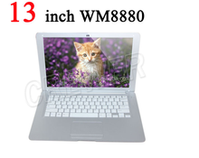 New 13 inch Android 4.4 laptop VIA 8880 computer notebook Netbook DUALCORE wifi low price mini laptop