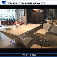 New design artificial stone open space office furniture