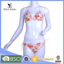suitable attractive print sheer mesh bikini bathing suit sexy girls photo