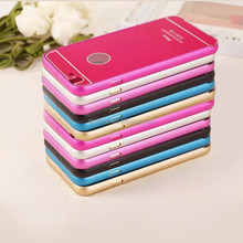 Cheap mobile accessory metal bumper case with PC back cover for Iphone6