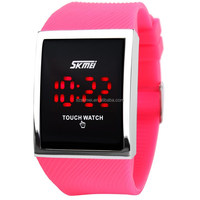 skmei 0988 led time instruct cheap touch screen watch