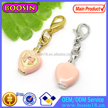 Pink Perfume Bottle Charm Bow Printed Lucky Jewelry Charm Wholesale #14258