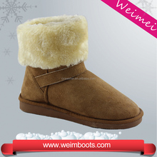 hot style cheap fashion sheepskin ankle snow boots