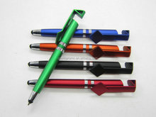 Twist action stylus ball pen with phone holder stand,
