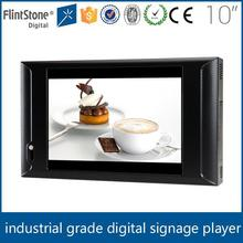 Flintstone 10 inch 16:9 lcd digital screen with LED backlight usb flash drives led screen indoor mall kiosk products