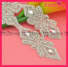 fashion bridal dresses rhinestone crystal applique work trimming in cheaper price WRA-386