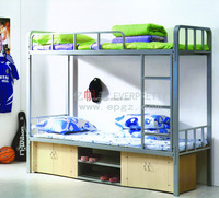 High Quality Strong Cheap Dorm Steel Double Decker Metal Bed for Sale