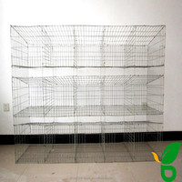 steel material galvanized or plastic coated cheap rabbit hutch