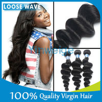 Free shipping Factory price Top Quality 3 Pcs lot 16 18 20 inches loose wave 100% brazilian virgin hair