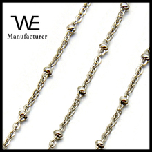 Stainless Steel Simple O Link Bead Chain Necklace Jewelry Women