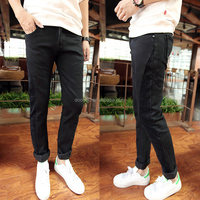 new fashion jeans pants black denim jean top fabric classical pent for men