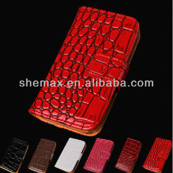 High Quality Crocodile Leather Flip Case For Sony X10