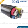 0.6/1kv 8.7/15kv PVC or XLPE insulated electrical power cable 4x4mm2