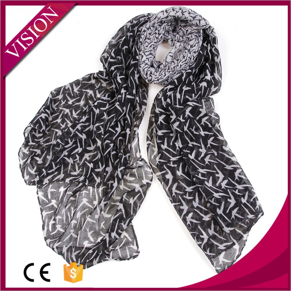 wholesale scarf scarf with birds pattern summer