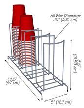Metal Wire Display Shelves Supermarket Display Shelves Paper Cup Display Rack