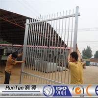 Anping factory hot dipped galvanized iron pipe fence
