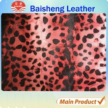 good quality pvc leather material for bags,cosmetic case material,animal print fabric leather