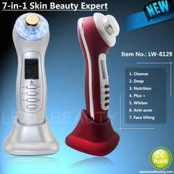 New arrival galvanic and ultrasonic facial massager for skin whitening and anti-wrinkle