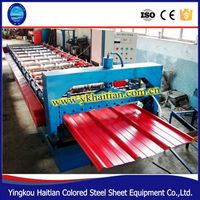 HT Single layer 900 color steel roof tiles roll forming machine /aluminum sheets making machine