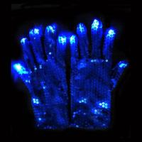 Glitter Glamous Lady LED Blinking Glove, Flashing Glove For Christmas