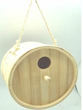 round bamboo bird house