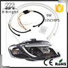 Super Bright 9W Led Car Lights flexible vw polo led drl/ daytime running light for toyata highlander /camry
